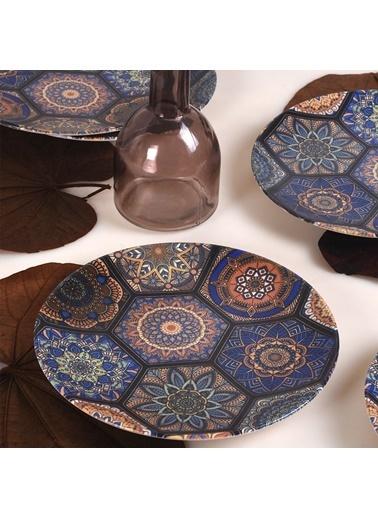 Keramika Keramika Mihribah Ege Pasta Tabağı 20 Cm 6 Adet  Renkli
